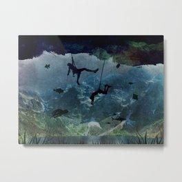 Climb and swim Metal Print