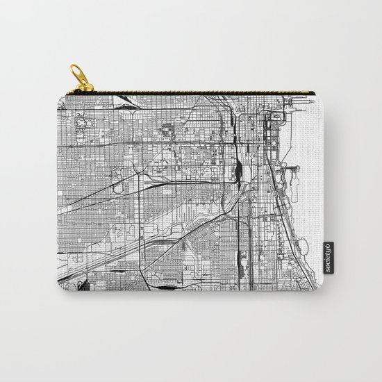 Chicago White Map by multiplicity