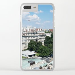 View of the Eisenhower Building Clear iPhone Case