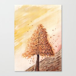 Autumn Tree Landscape Canvas Print