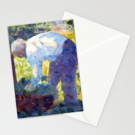 Georges Seurat The Gardener Stationery Cards