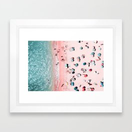 Ocean Print, Beach Print, Wall Decor, Aerial Beach Print, Beach Photography, Bondi Beach Print Framed Art Print