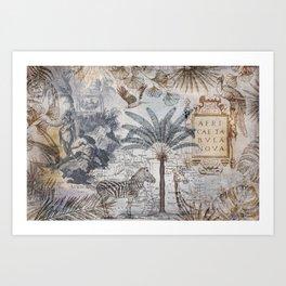 Explore Africa Collage Art Print
