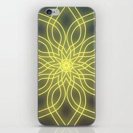 Solar plexus chakra balancing mandala iPhone Skin