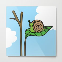 Sweet Snail Metal Print