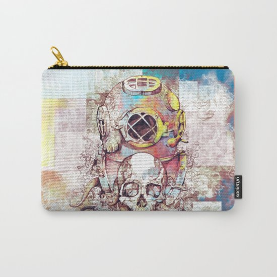 vintage floral skull Carry-All Pouch