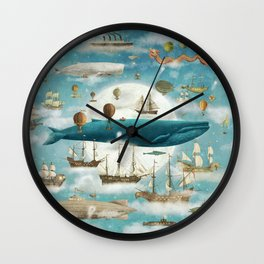 Ocean Meets Sky - from picture book Wall Clock