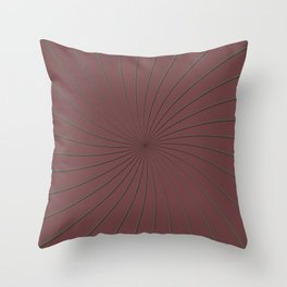 3D Pantone Red Pear and Gray Thin Striped Circle Pinwheel Throw Pillow