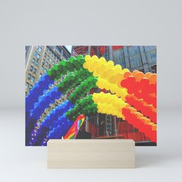 Proud Scene (LGBT Pride Parade) Mini Art Print