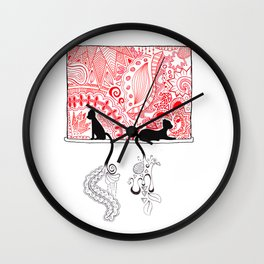 Cats in a Window Wall Clock