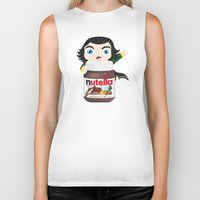 nutella Biker Tanks featuring Loki Loves Nutella? by Lily
