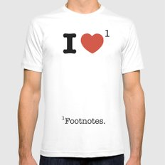 I Heart Footnotes MEDIUM Mens Fitted Tee White