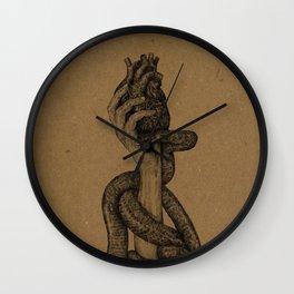 Hearts & Snakes Wall Clock
