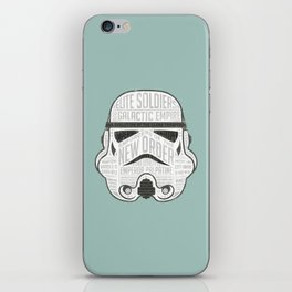 Stormtrooper trivia infographic print design iPhone Skin