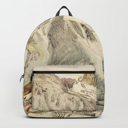 Abstract Art Singers Birds-Mountain-Snowy Glacier Backpack
