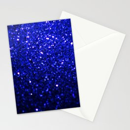 Sparkling Dark Blue Glitter Stationery Cards