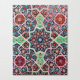 V16 Special Colored Traditional Moroccan Design. Canvas Print