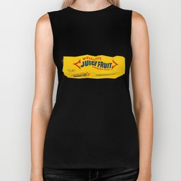 Discarded gum wrapper Biker Tank