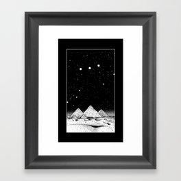 The Pyramids of Giza Framed Art Print