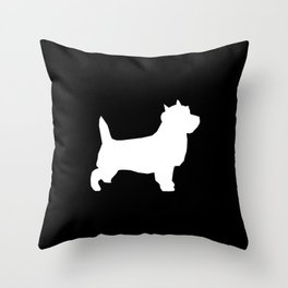Cairn Terrier dog breed black and white dog pattern pet dog lover minimal Throw Pillow