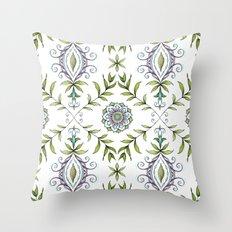 Nature's Damask Throw Pillow