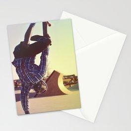 Skateboard Handstand Stationery Cards