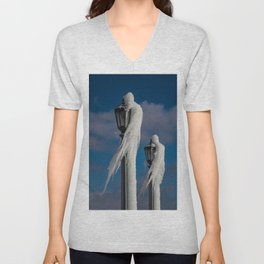 ice lamp ladies Unisex V-Neck
