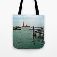 venice Tote Bags featuring Venice by Art-Motiva