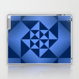 Abstract Triangles - Sapphire Laptop & iPad Skin