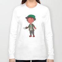 freddy krueger Long Sleeve T-shirts featuring Horror Hipsters - Freddy Krueger by Duddy In Motion