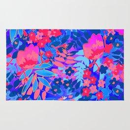 Vibrant Flower Print Rug