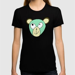 Hand drawn funny face of an animal bear T-shirt
