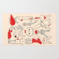 bunnies Area & Throw Rugs featuring Bunnies by Jay Fleck