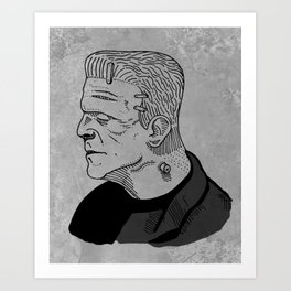 Karloff's Monster Art Print