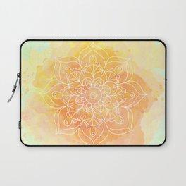 Watercolor Mandala // Sunny Floral Mandala Laptop Sleeve