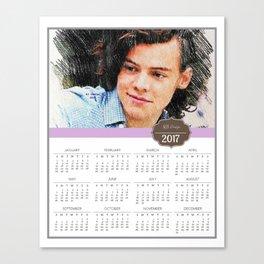 Harry Styles, One Direction, 1D, 1dFanArt, 2017 Calendar, Calendar, 2017 Canvas Print