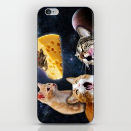 Cats and the mouse on the cheese iPhone Skin