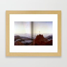 Morning in the Riesengebirge (1810-11)  by Caspar David Friedrich 1774-1840 Framed Art Print
