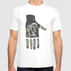 Give Yourself Away - Hand drawn Mens Fitted Tee White MEDIUM
