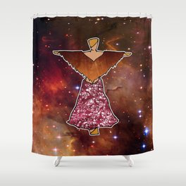 Cosmic Kachina Doll Shower Curtain