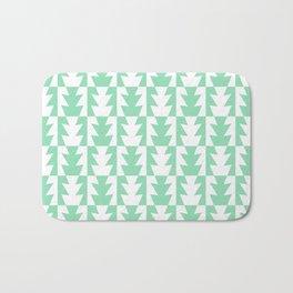 Art Deco Jagged Edge Pattern Mint Green Bath Mat