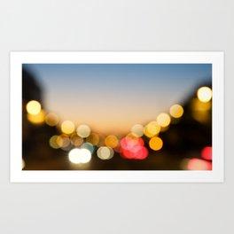 Bokeh Nightlights Art Print