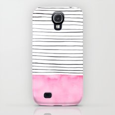 Stripes and pink watercolor Slim Case Galaxy S4