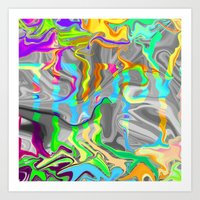 trippy Art Prints featuring Trippy by Calepotts
