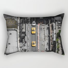 Yellow Cab from Above - Original #society6 exclusive Rectangular Pillow