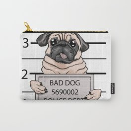 mugshot dog cartoon. Carry-All Pouch