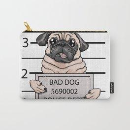 mugshot dog cartoon. Carry-All Pouch