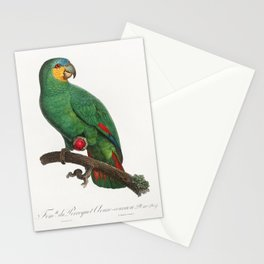 Military Macaw Ara militaris from Natural History of Parrots (1801-1805) by Francois Levaillant Stationery Cards