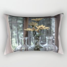 Bottled Flowers Rectangular Pillow