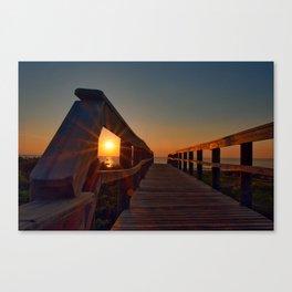 Sunrise thru Boardwalk Canvas Print